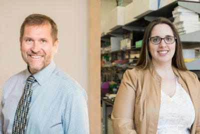 Ian Kimbrough and Jennifer Munson, photographed separately before the COVID-19 pandemic.